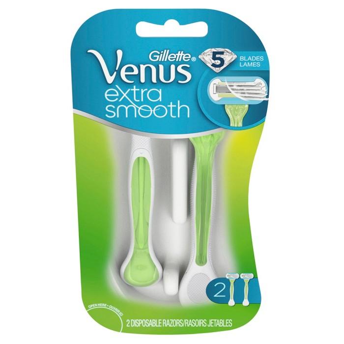Venus Extra Smooth Green Disposable Women's Razors - 2ct : Target