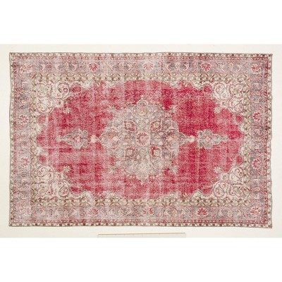 """6'7""""x9'11"""" Vintage One-of-a-Kind Eleuterio Rug Red - Revival Rugs"""