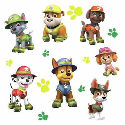 RoomMates PAW Patrol Jungle Peel and Stick Giant Wall Decals Single Sheet
