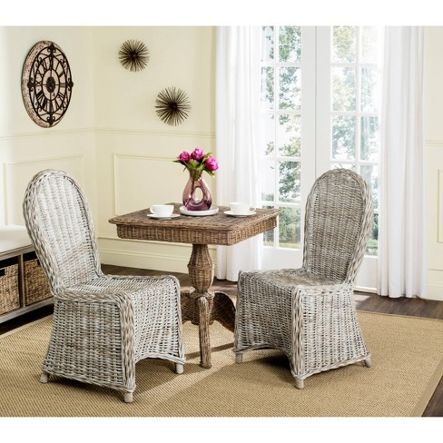 Idola Wicker Dining Chair - White Washed (Set of 2) - Safavieh®