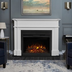 Real Flame - Harlan Decorative Fireplace - White