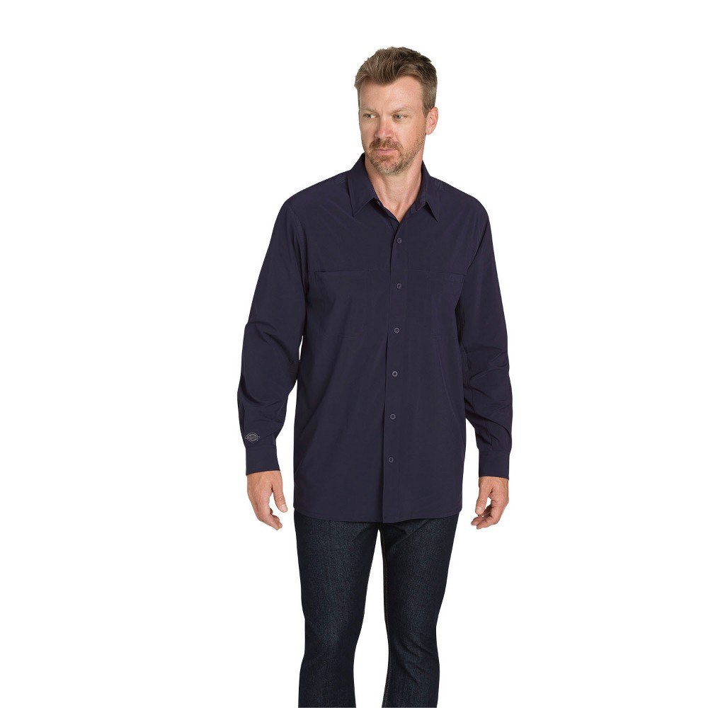 Dickies Men's Cooling Flex Long Sleeve Shirt - Ink Navy M
