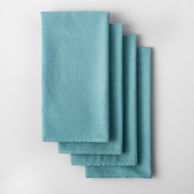 4pk Solid Flour Sack Dishtowel Aqua - Made By Design™