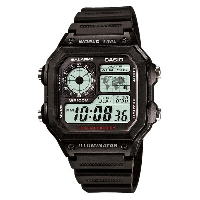 Casio Men's World Time Watch - Black (AE1200WH-1AV)