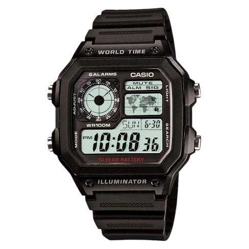 Casio Men's World Time Watch - Black (AE1200WH-1AV) - image 1 of 3