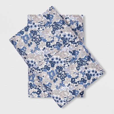 Performance Pillowcases (King)Blue Floral 400 Thread Count - Threshold™