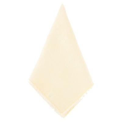Fringed Design Stone Washed Napkins Yellow (Set of 4)