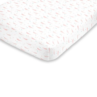 NoJo Super Soft Narwhal Fitted Mini Crib Sheet