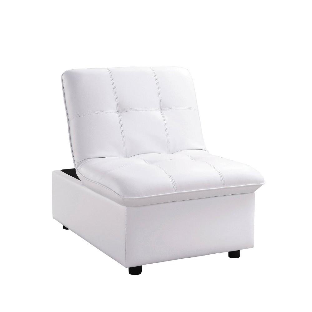 De Anza Biscuit Tufted Futon Chair White - miBasics