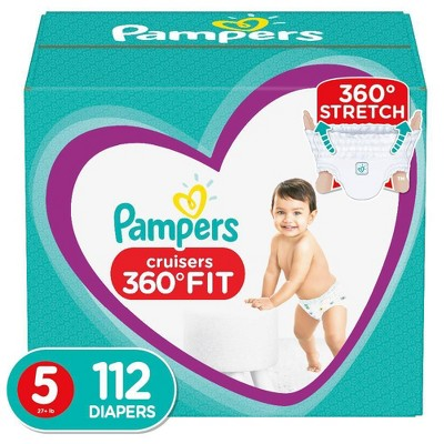 Pampers Cruisers 360 Disposable Diapers One Month Supply - Size 5 (112ct)
