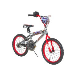 """Hot Wheels 18"""" Kids' Bike - Light Silver/Red, Kids Unisex, Red Silver"""