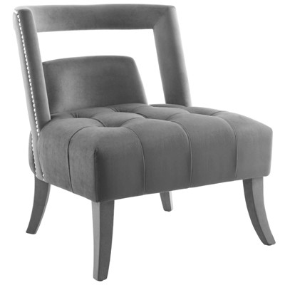 Honor Accent Lounge Performance Velvet Armchair Gray - Modway