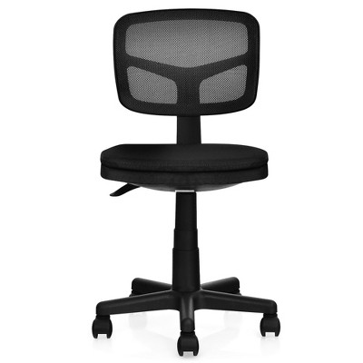 Costway Armless Office Chair Adjustable Swivel Computer Mesh Desk Chair Green\Blue\Gray