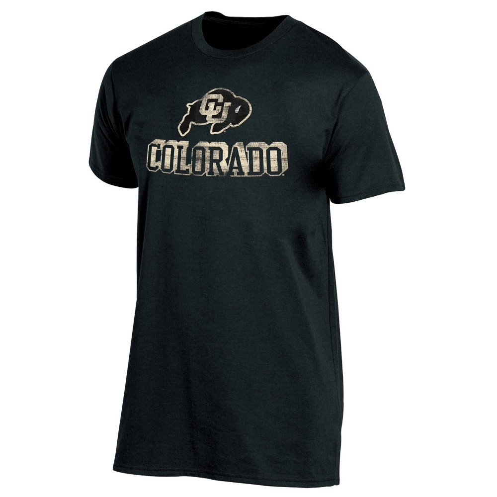 Colorado Buffaloes Men's Short Sleeve Keep the Lights On Bi-Blend Gray Heathered T-Shirt XL, Multicolored