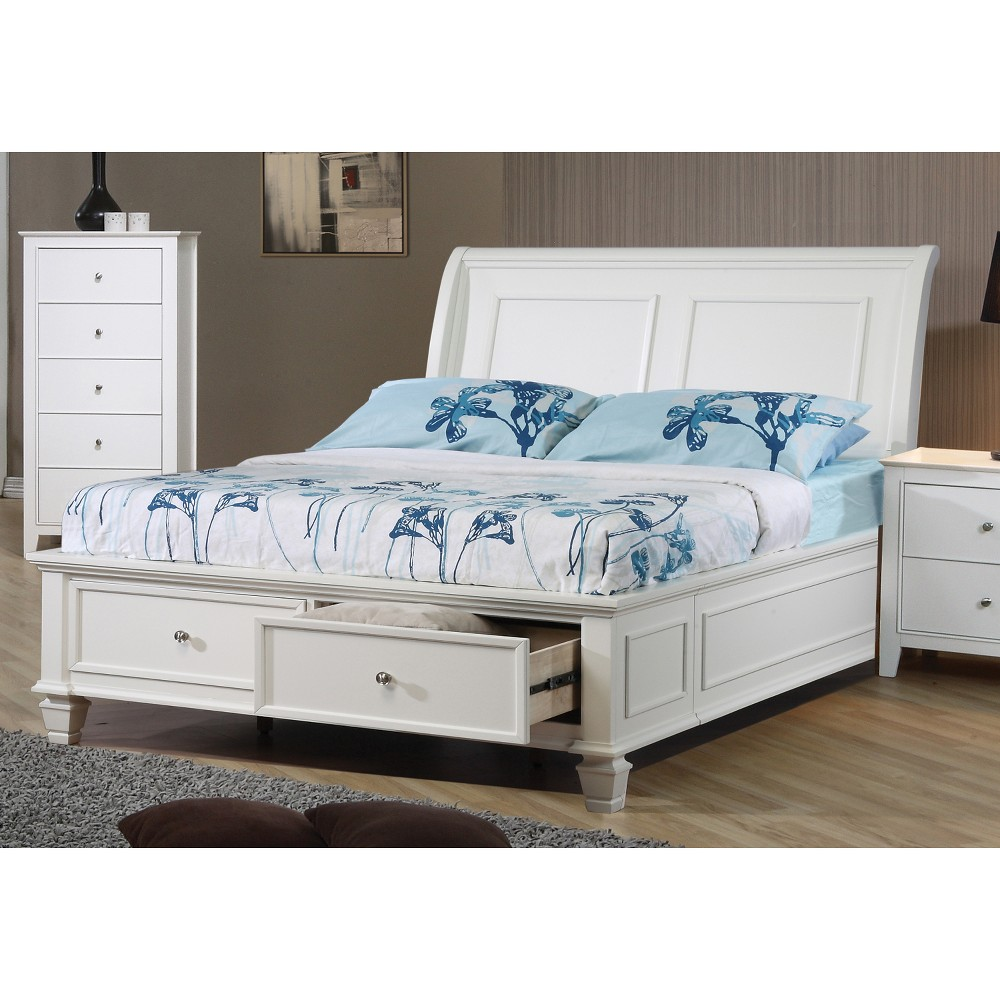 Full Sienna Storage Bed White - Private Reserve