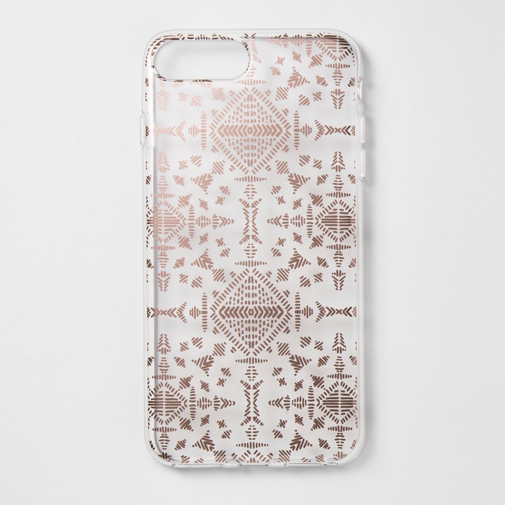 heyday Apple iPhone 8 Plus/7 Plus/6s Plus/6 Plus Printed Case - Rose Gold, Rose Gold Etched