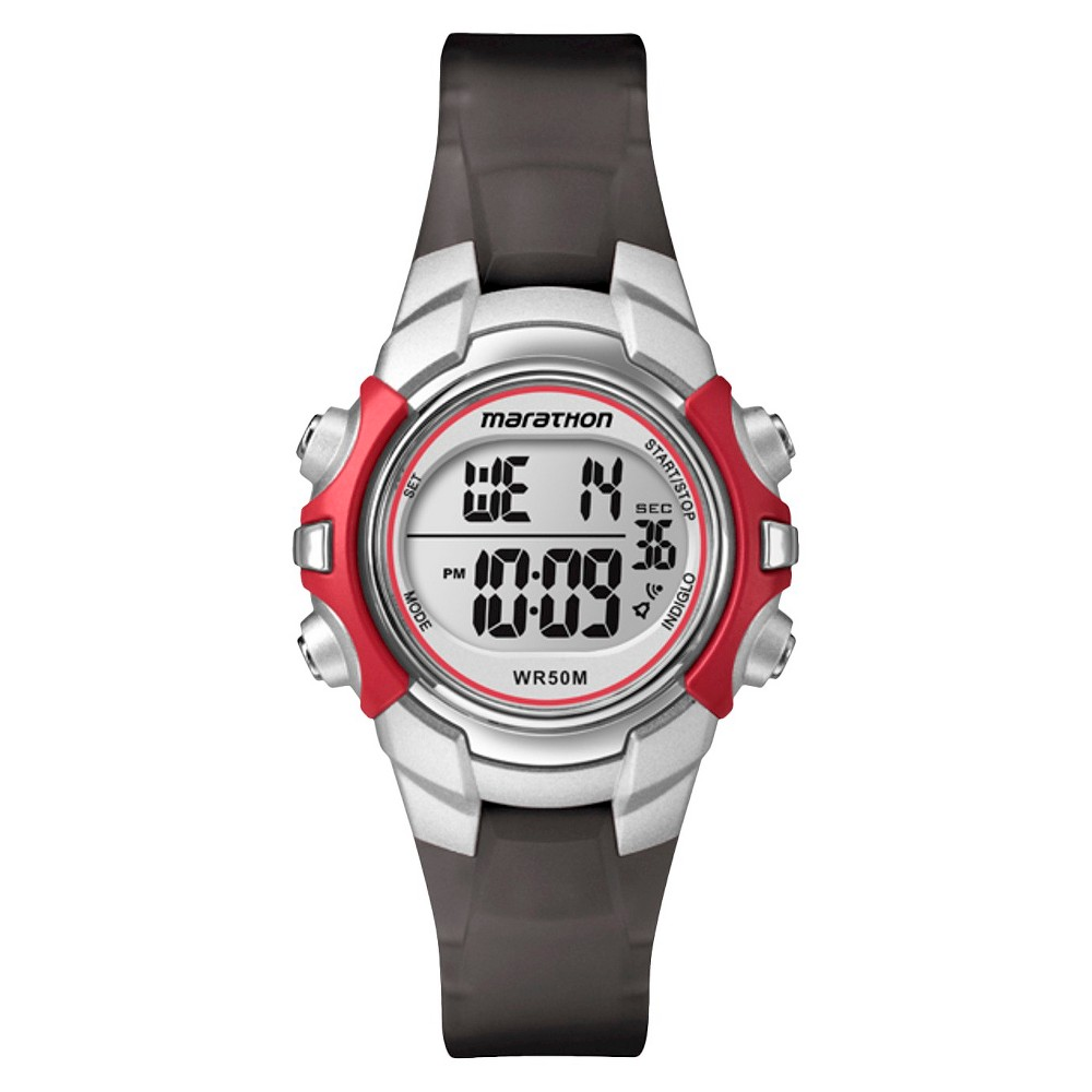 Women's Marathon by Timex Digital Watch - Black/Silver T5K807TG
