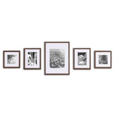 5pc Gallery Perfect Wall Kit Walnut- Burns of Boston