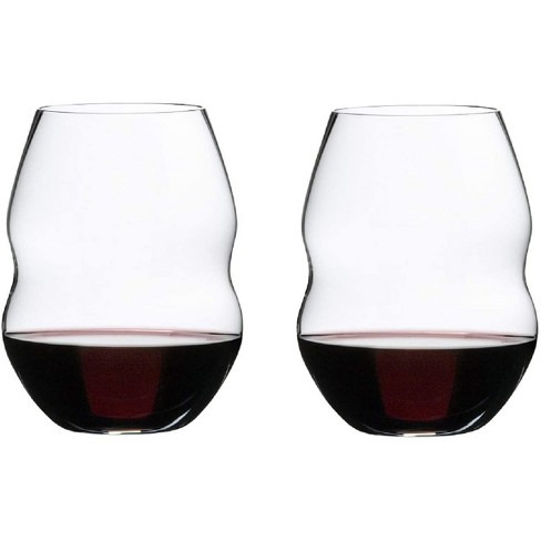 Riedel 20.45 Ounce Swirl Red Wine Clear Crystal Stemless Tumbler Wine Glass Set Suited for Variety of Red and Pink Wines, Set of 2 - image 1 of 4