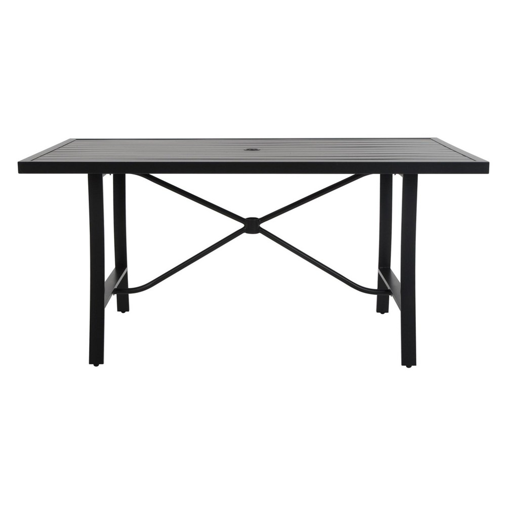 'It's a Snap' Rectangle Patio Dining Table - Gray/Beige - Cosco Outdoor Living