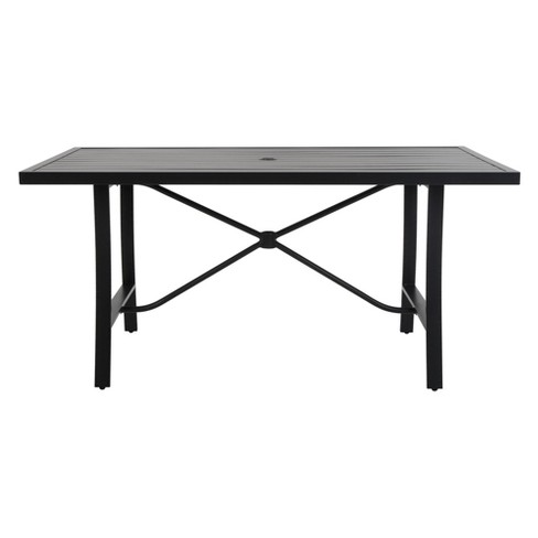 It S A Snap Rectangle Patio Dining Table Gray Beige Cosco Outdoor Living Target