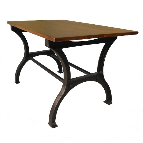 Forza Cast Iron Trestle Base Table Black Carolina Chair And Target