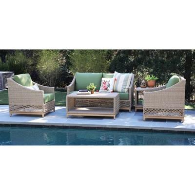 Prescott 5pc Deep Seating Set with Sunbrella - Canopy Home and Garden