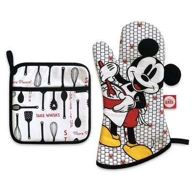 Mickey Mouse & Friends 2pc Cotton Oven Mitt and Pot Holder Set - Disney store