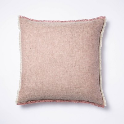 Linen Throw Pillow with Contrast Frayed Edges - Threshold™ designed with Studio McGee
