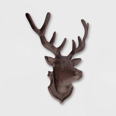 10 Deer Iron Wall Decor Brown Esschert Design Target