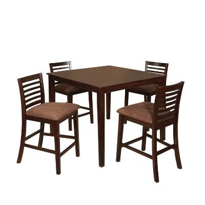 miBasics Glenwood 5pc Pub Dining Table Set in Espresso  sc 1 st  Target & MiBasics Glenwood 5pc Pub Dining Table Set In Espresso : Target