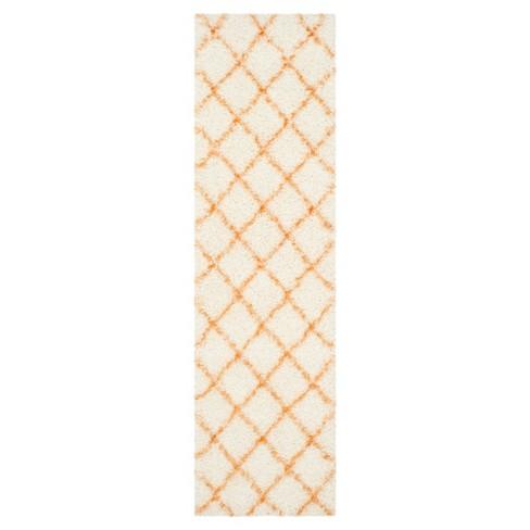 """Ivory/Tangerine Abstract Loomed Runner - (2'3""""X8' Runner) - Safavieh® - image 1 of 3"""