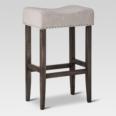 "29"" Rumford Saddle Barstool with Wood Leg - Threshold™"