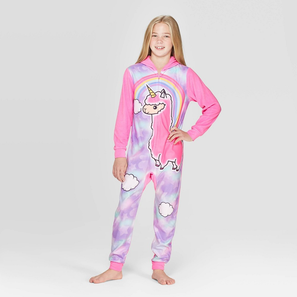 Image of Girls' Llama Llama Union Suit - Pink L, Girl's, Size: Large