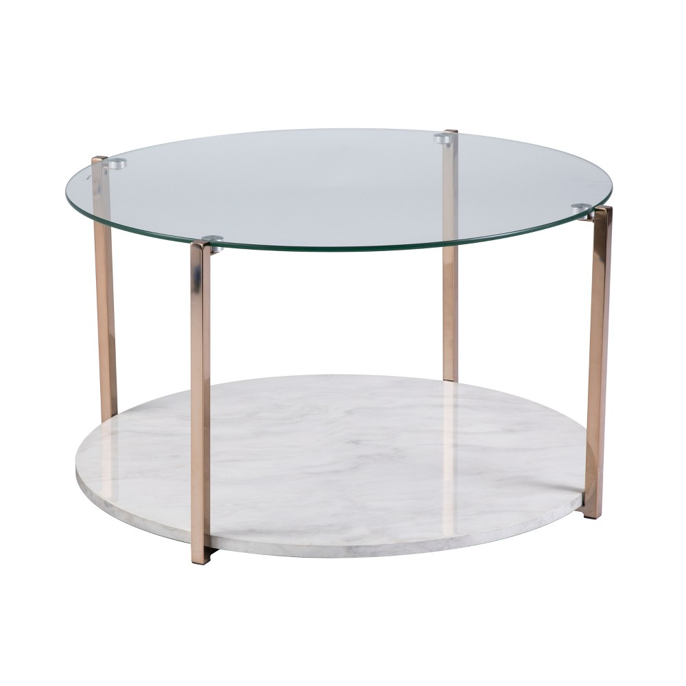 Agnes Cocktail Table Warm Gold - Aiden Lane