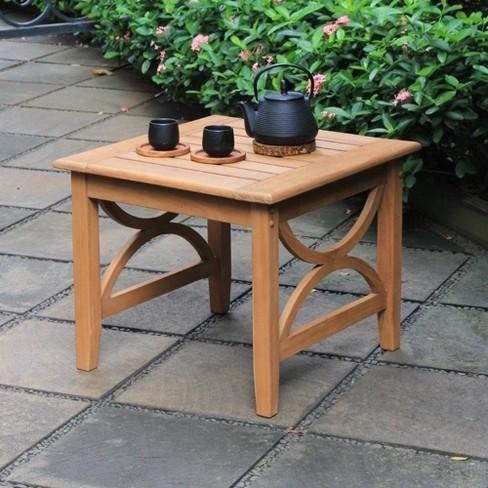 Abbington Teak Patio Side Table - Cambridge Casual - image 1 of 4