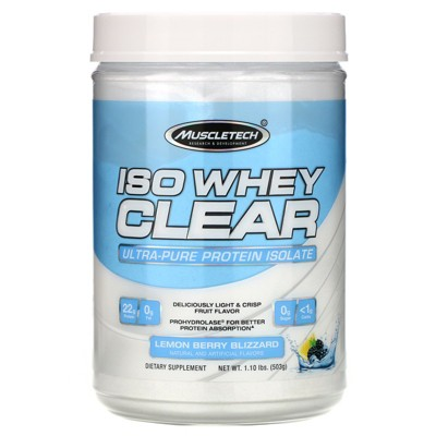 Muscletech ISO Whey  Clear, Ultra-Pure Protein Isolate, Powder