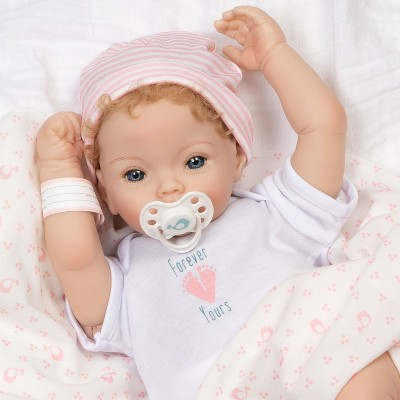Paradise Galleries Realistic Newborn Doll - Forever Yours Golden, 7-Piece Reborn Doll Gift Set with Magnetic Pacifier