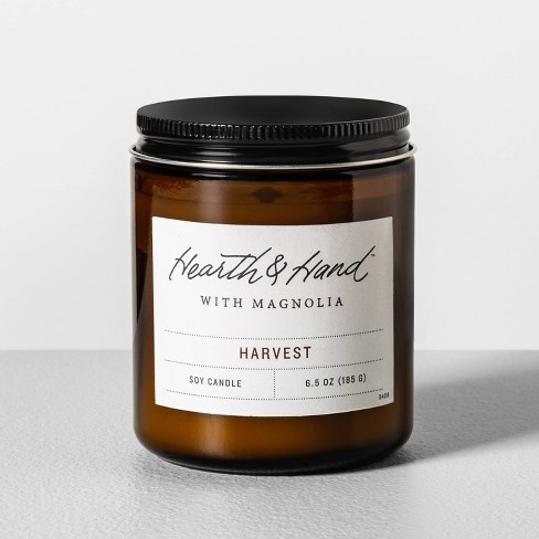 6.5oz Glass Candle Harvest - Hearth & Hand™ with Magnolia - image 1 of 2