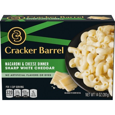 Cracker Barrel Sharp White cheddar Macaroni & Cheese Dinner - 14oz