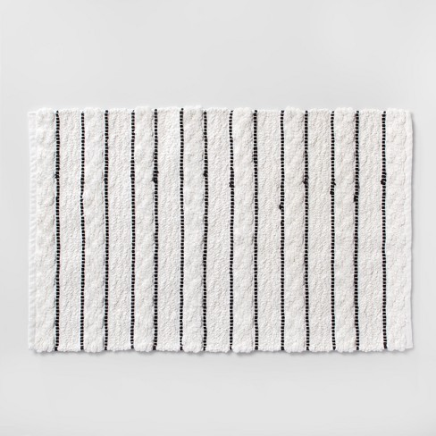 Striped Bath Rug White Black Opalhouse Target