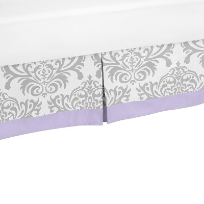 Sweet Jojo Designs Lavender Elizabeth Toddler Bed Skirt