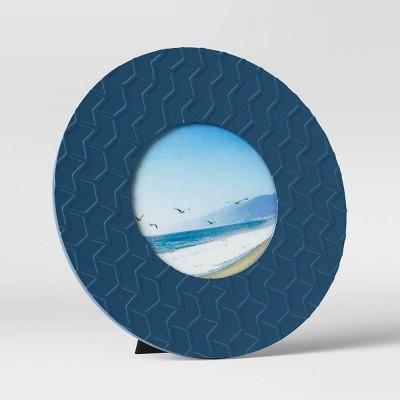 """4"""" x 4"""" Round Picture Frame Navy - Room Essentials™"""