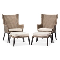 Target.com deals on Threshold Ennismore 4-Piece Wicker Patio Conversation Seating