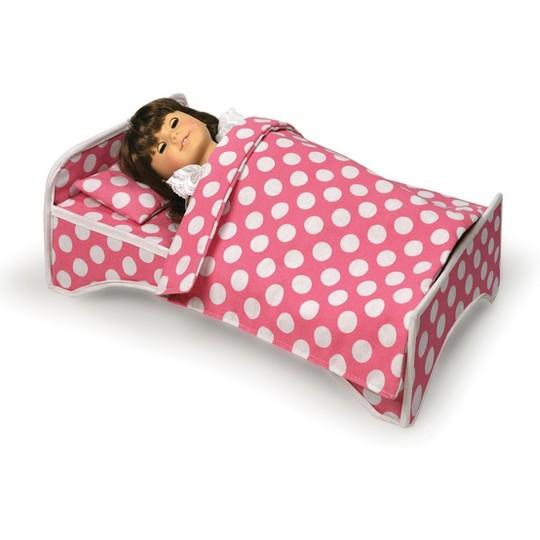 Badger Basket Doll Travel Case with Bed & Bedding image number null