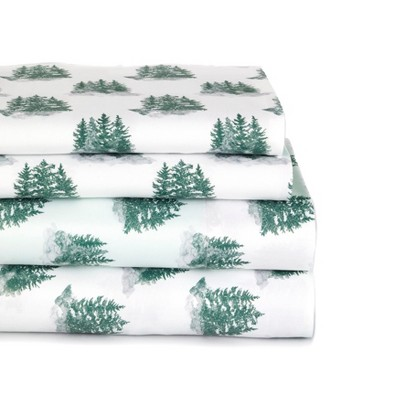 Lakeside Home For The Holidays Bed Sheet Set with Pillowcases