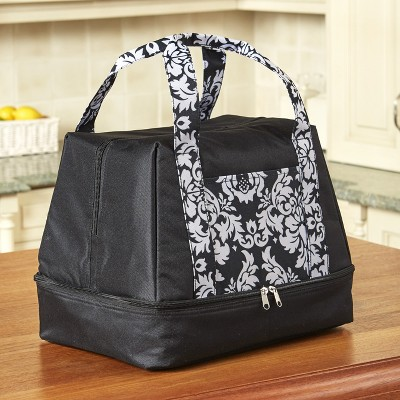 Lakeside 2-In-1 Compartment Slow Cooker and Casserole Carrier Bag