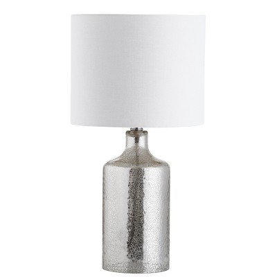Danaris Table Lamp Silver/Ivory 10 x19  (Includes Energy Efficient Light Bulb)- Safavieh