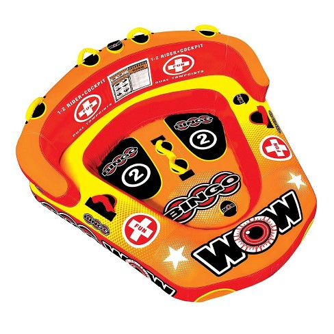 Wow Bingo 2 Inflatable 2 Person Seating Ride Cockpit Towable Water Sports Tube - image 1 of 4