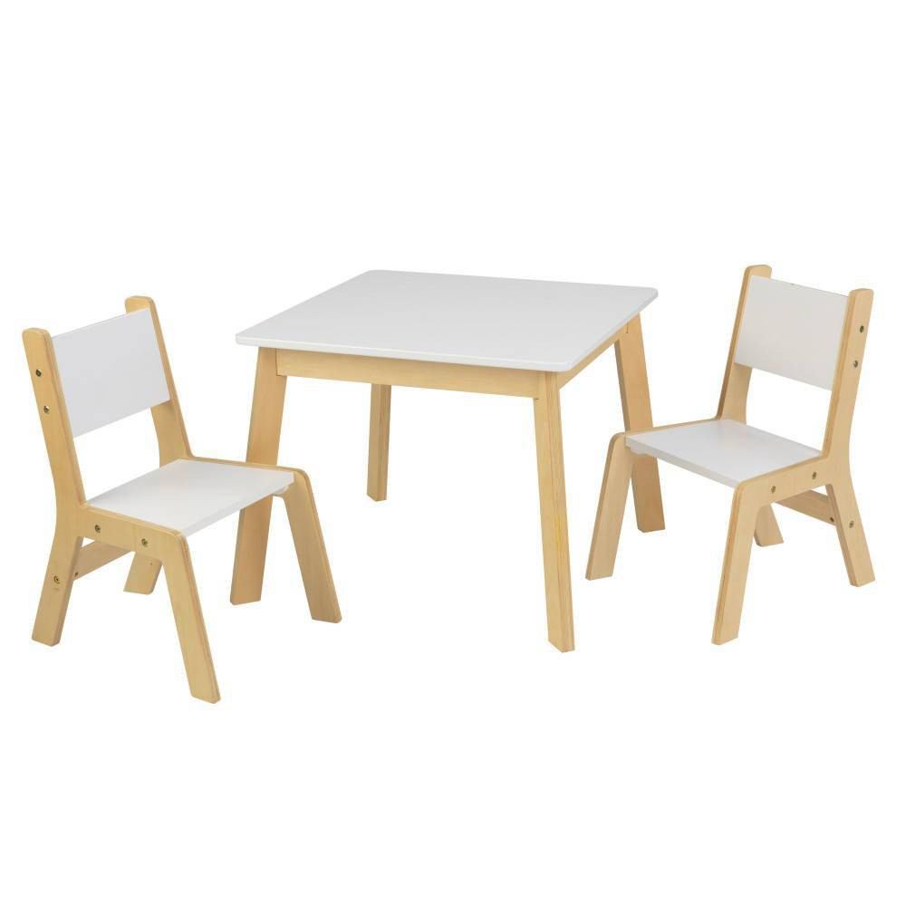 Image of 3pc Modern Table and Chair Set White - KidKraft